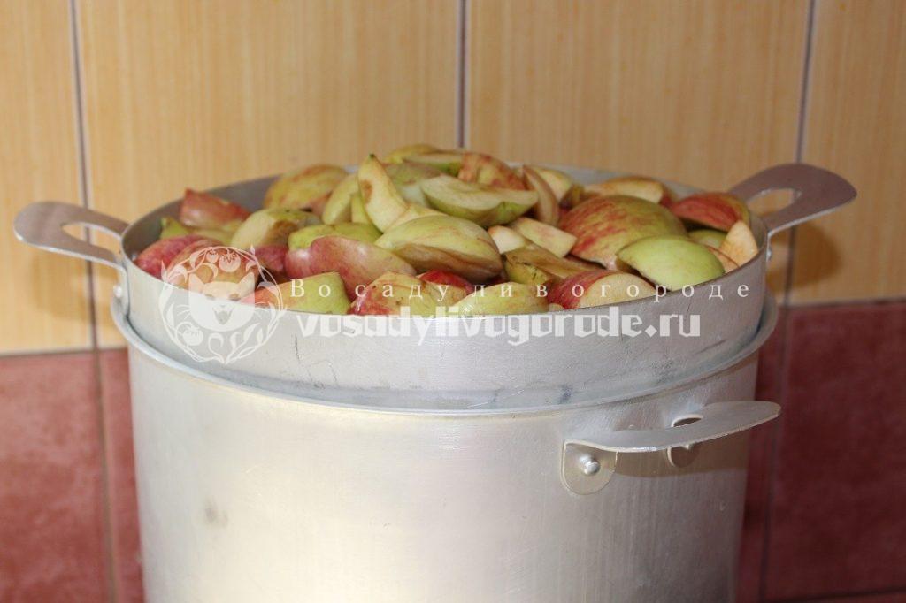Поставить отсек с яблоками