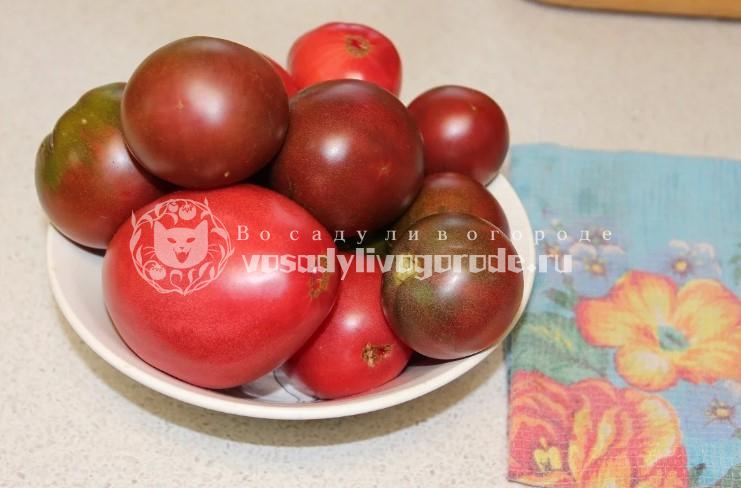 Вытереть помидоры