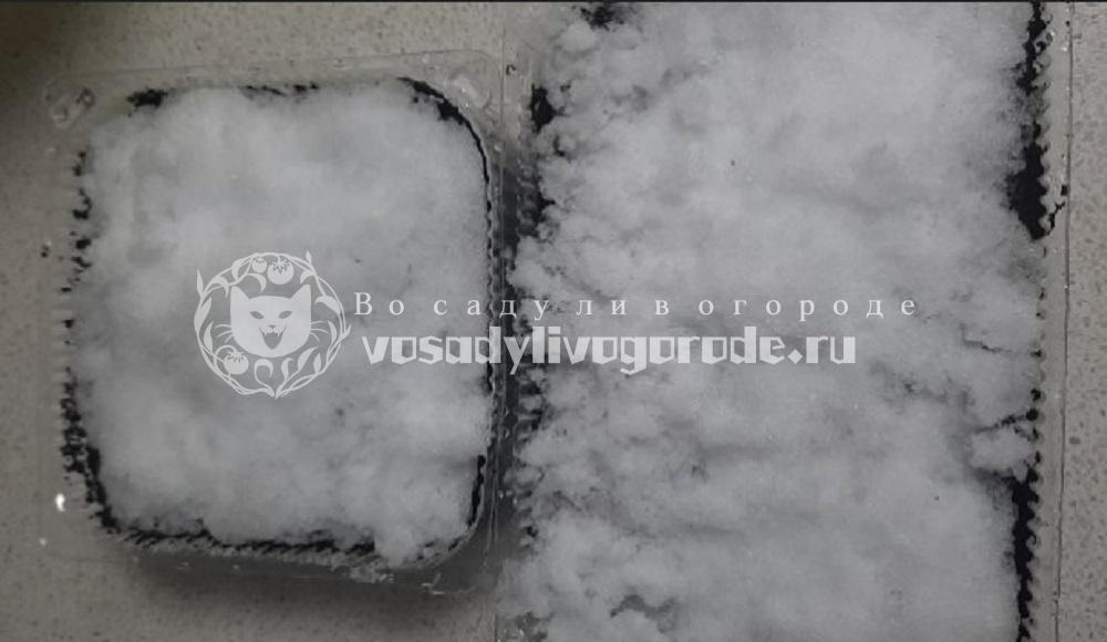 Выложить снег в контейнер